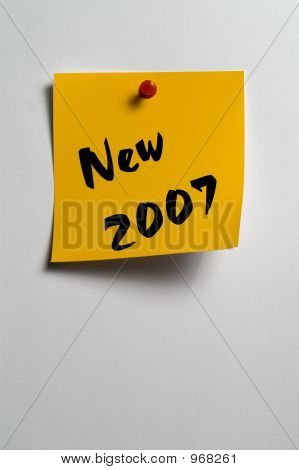 "Sticky Notes - ""New 2007"""
