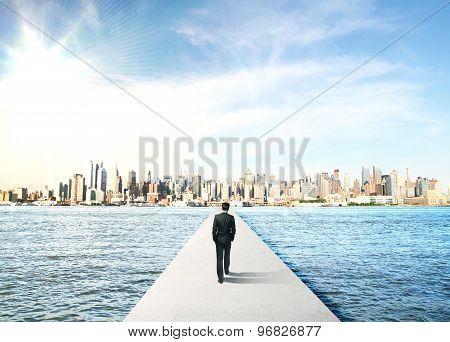 Businessman To City