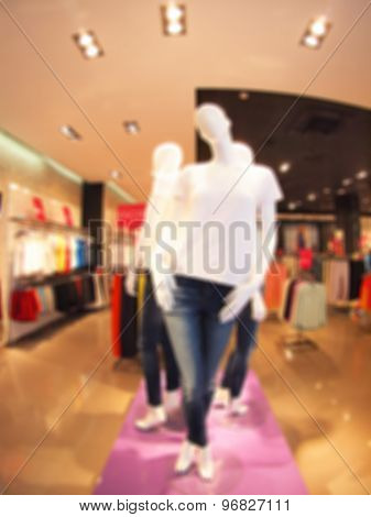 Defocused And Blur Image Of Female Mannequin