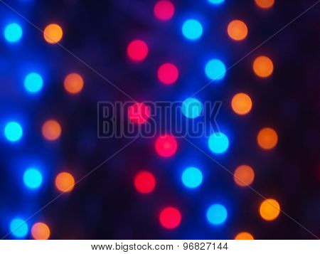 Defocused Colored Lights Out Of Focus