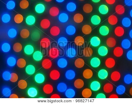 Defocused And Blur Image Of Multi-colored Lights