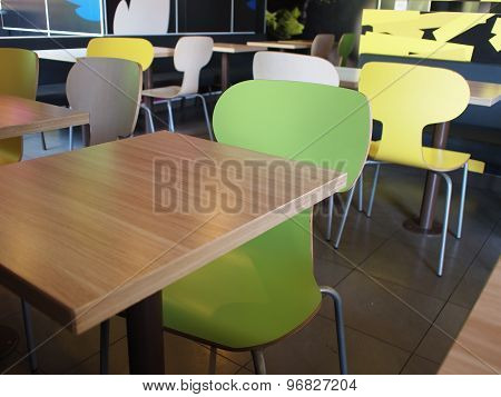 The Interior Of The Restaurant Fastfood