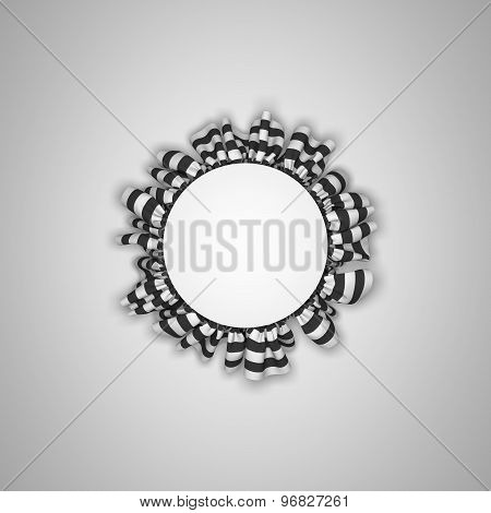Cloth frame background with drapery