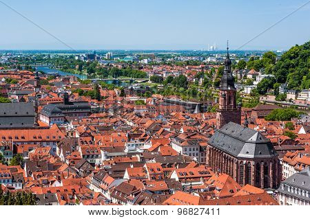 Rooftops of Heidelberg old town, Baden-Wurttemberg, Germany