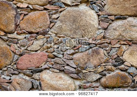 A Fragment Of An Old Stone Wall