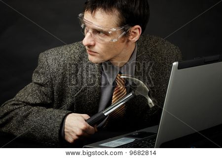 Person Is Going To Break Computer
