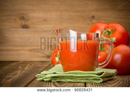 Jug With Tomato Juice