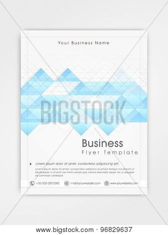 Abstract professional flyer, template or brochure design for business purpose.