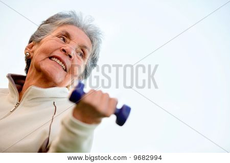 Elder Woman Exercising
