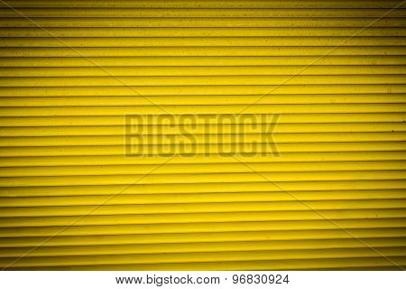 Old Yellow Rolling Shutter For Backgrounds