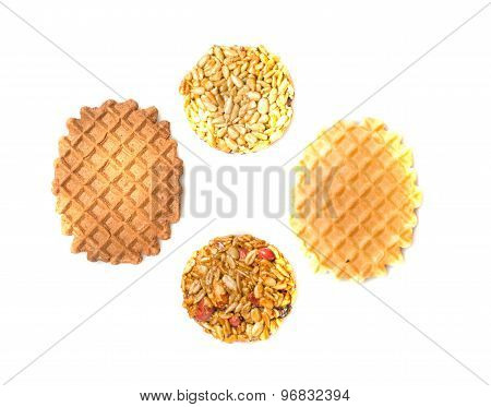 Four Cookies Isolated On A White Background