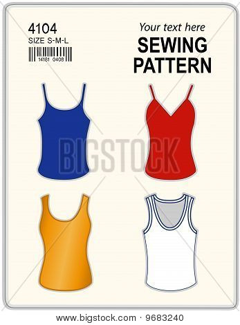 Sewing Pattern, Tank Tops