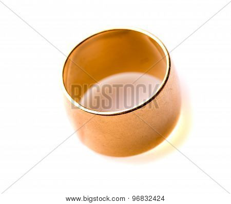 Gold Ring Isolated On A White Background