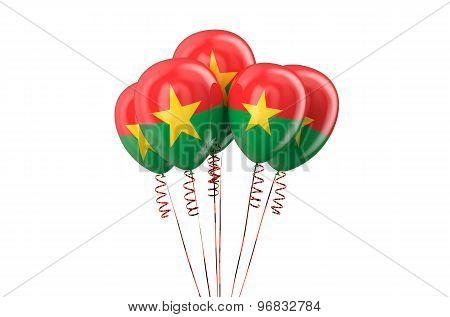 Burkina Faso Patriotic Balloons Holyday Concept