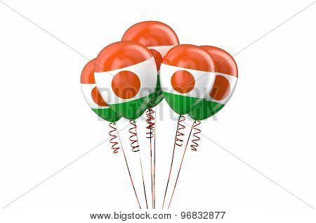 Niger Patriotic Balloons Holyday Concept