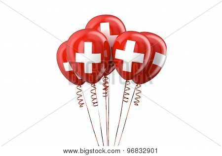 Swiss Patriotic Balloons, Holyday Concept