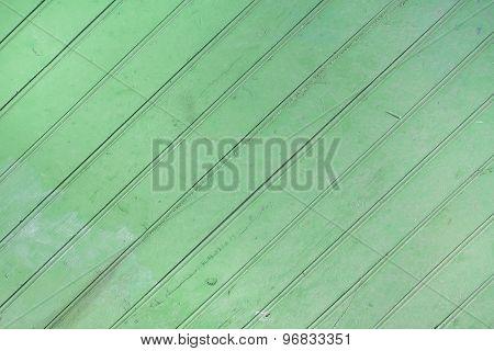 Green wooden crosswise texture