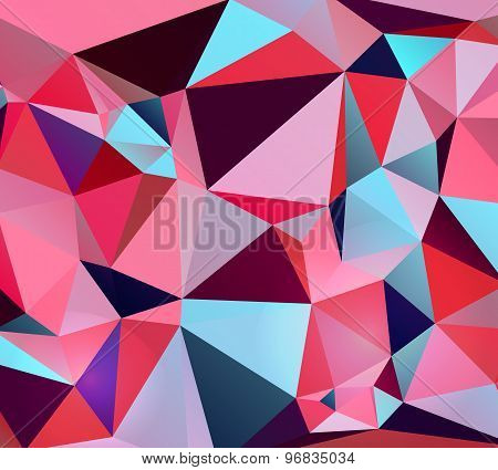 Colorful Abstract Vector. Triangular Geometric