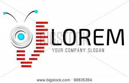 Logo template, ai, bot, drone, robotics