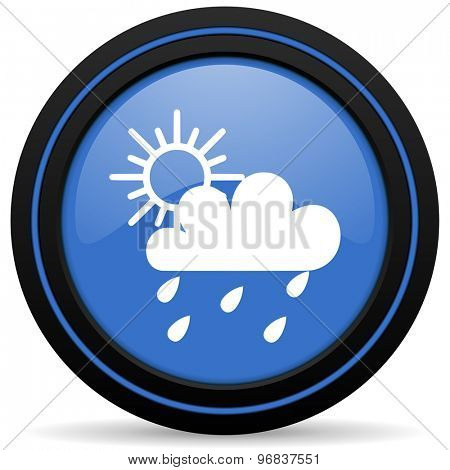 rain icon weather forecast sign