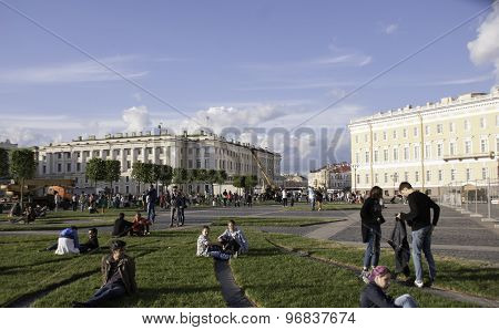 The Sudden Appearance Of The Central Area Of St.-petersburg