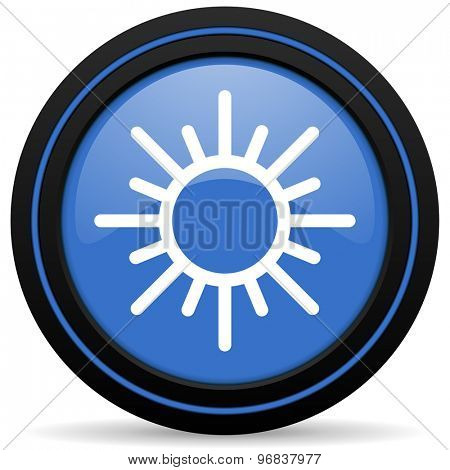 sun icon weather forecast sign