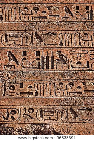 Egypt hieroglyphs on wall