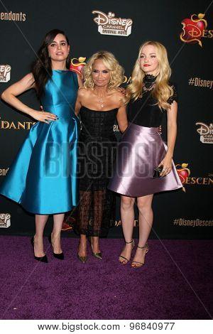LOS ANGELES - JUL 24:  Sofia Carson, Kristin Chenoweth, Dove Cameron at the