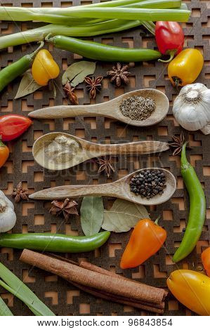 Mixed Vegetables And Spices.