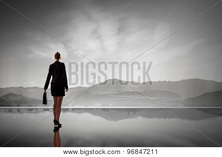 Businesswoman in isolation