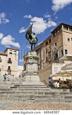 Segovia Statue To Juan Bravo