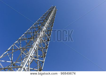 Communication Tower In The Mountain
