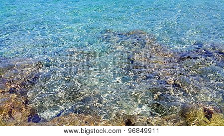 Transparent Sea Water