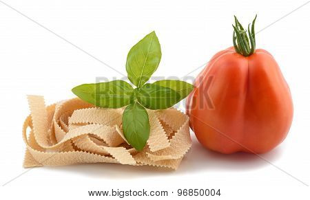 Tomato Pappardelle And Basil