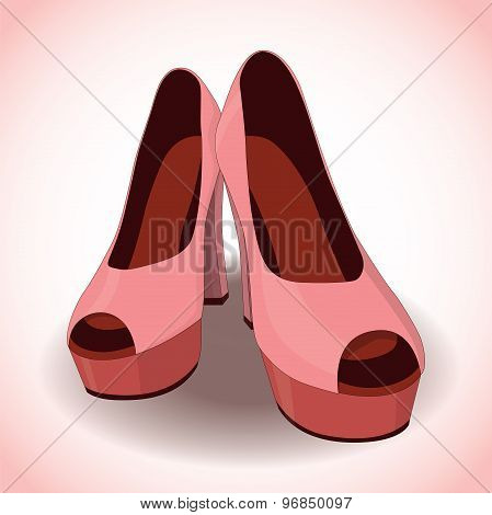 Vector Pair Of Women's Shoes