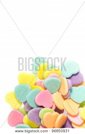 Heart Shaped Candy With Selective Focus For Valentine Day.