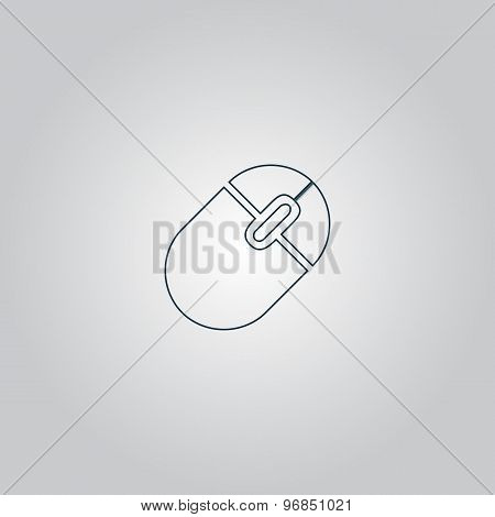 Computer mouse icon, vector illustration.
