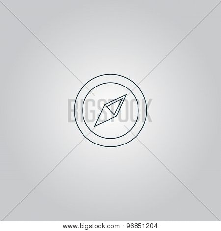 Compass icon. Vector illustration.