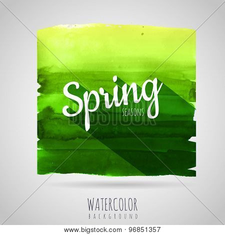 Watercolor Abstract Background. Seasons. Spring