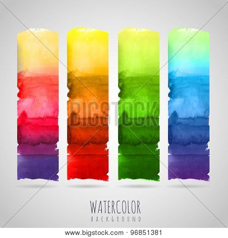 Watercolor Abstract Background. Seasons