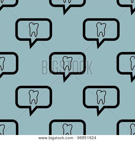 Pale blue tooth message pattern