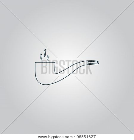 Vector smoky tobacco pipe