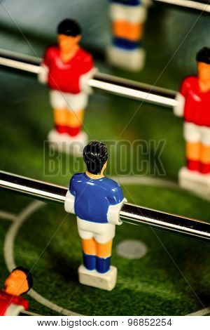 Vintage Foosball, Table Soccer Or Football Kicker Game