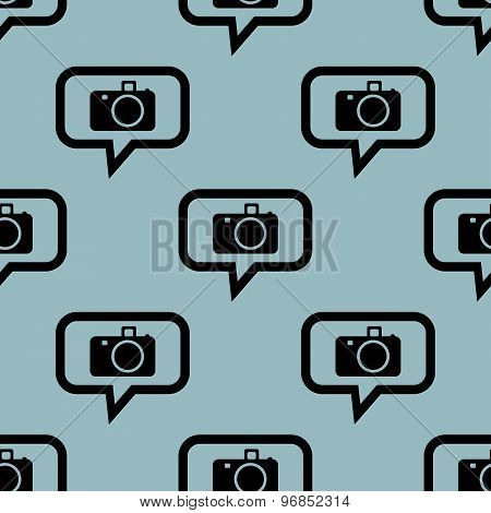 Pale blue camera message pattern