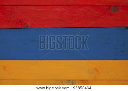Flag Of Armenia Of Colored Boards..