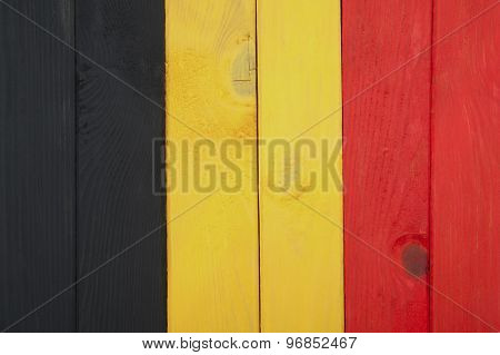 Flag Of Belgium Of Colorful Boards..