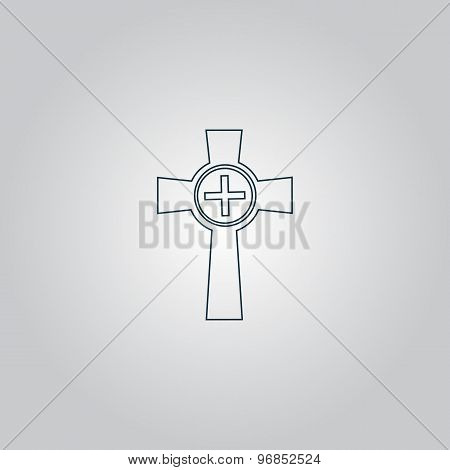 Tombstone - cross gravestone icon