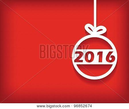 2016 Christmas ball card
