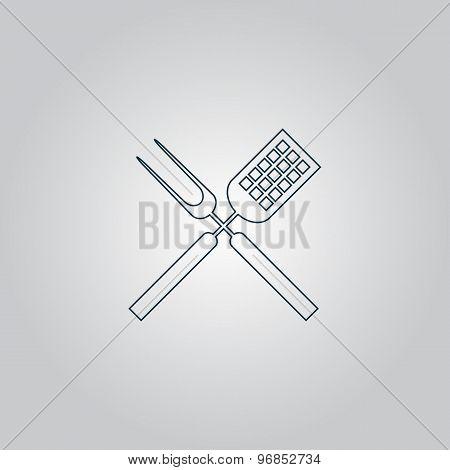Barbecue utensils.