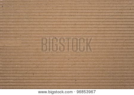Cardboard Corrugated Pattern Background Horizontal
